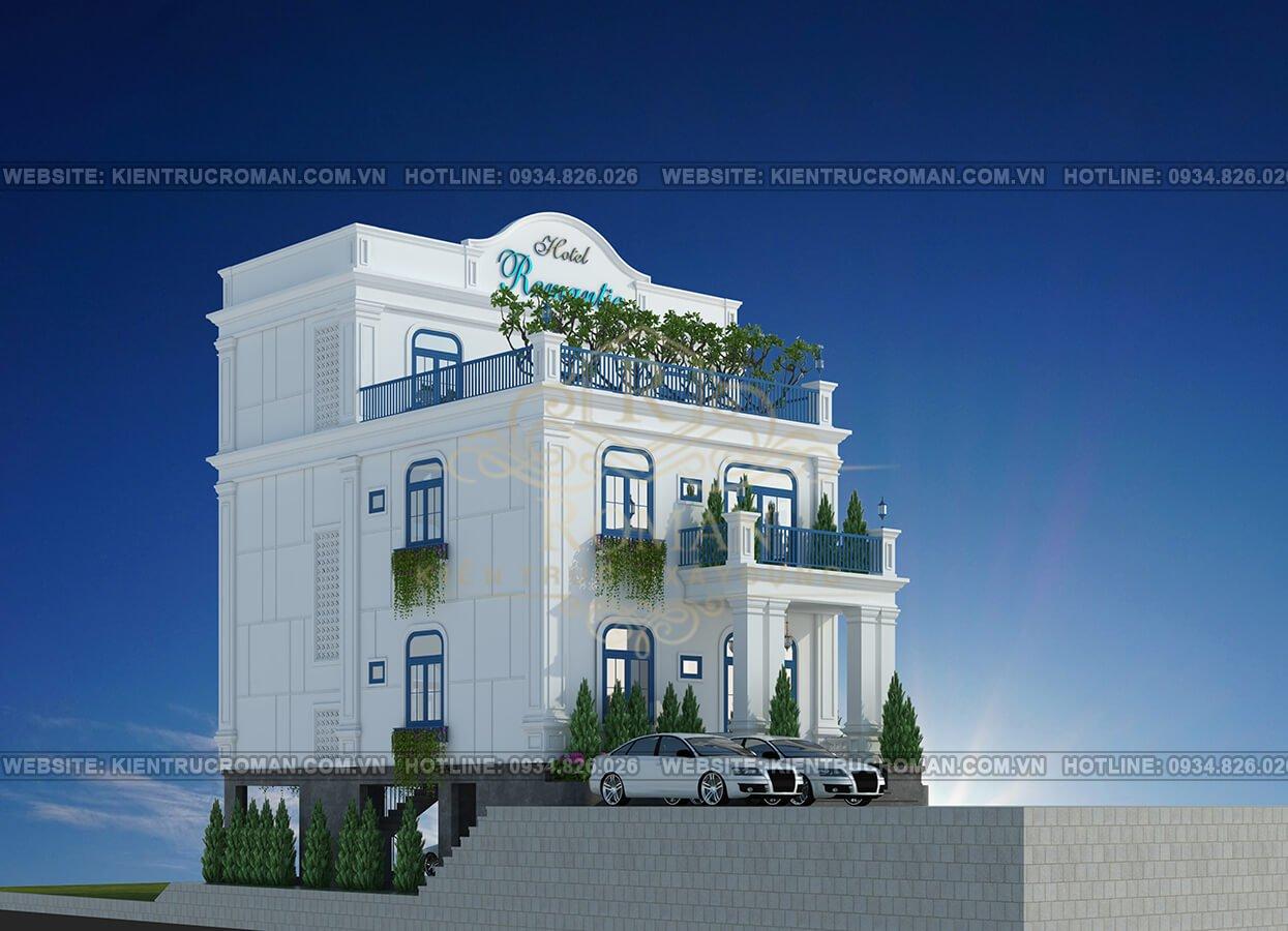 thiết kế khách sạn kiểu pháp phối cảnh
