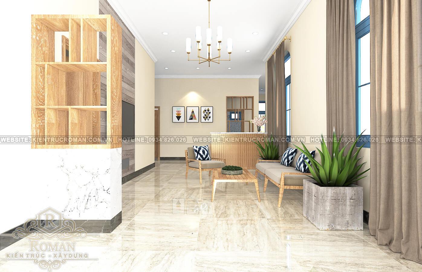 thiết kế khách sạn kiểu pháp sảnh