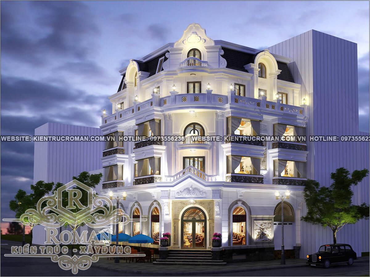 mặt tiền thiết kế khách sạn tân cổ điển cao cấp