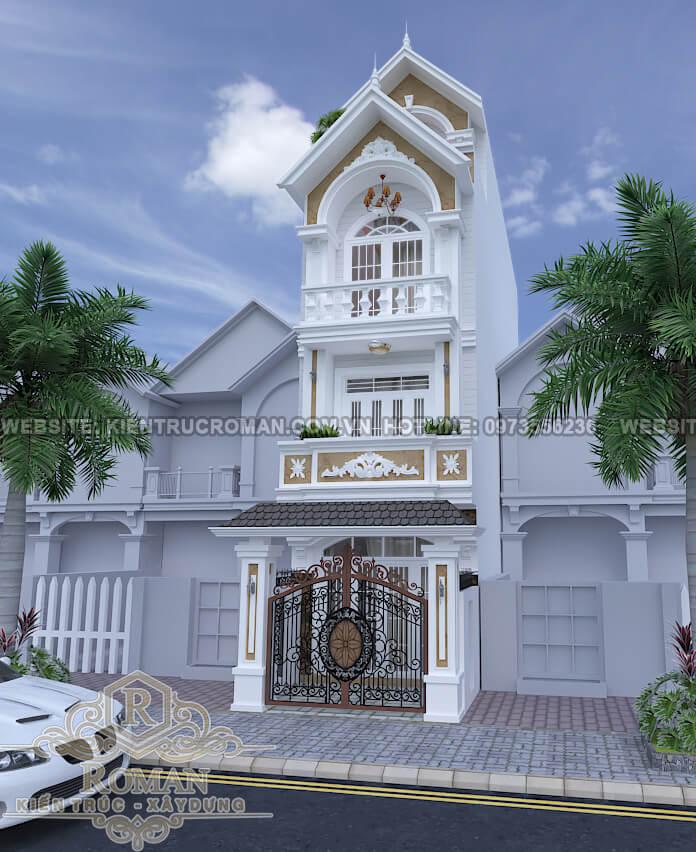 mặt tiền thiết kế kiến trúc nhà phố đẹp
