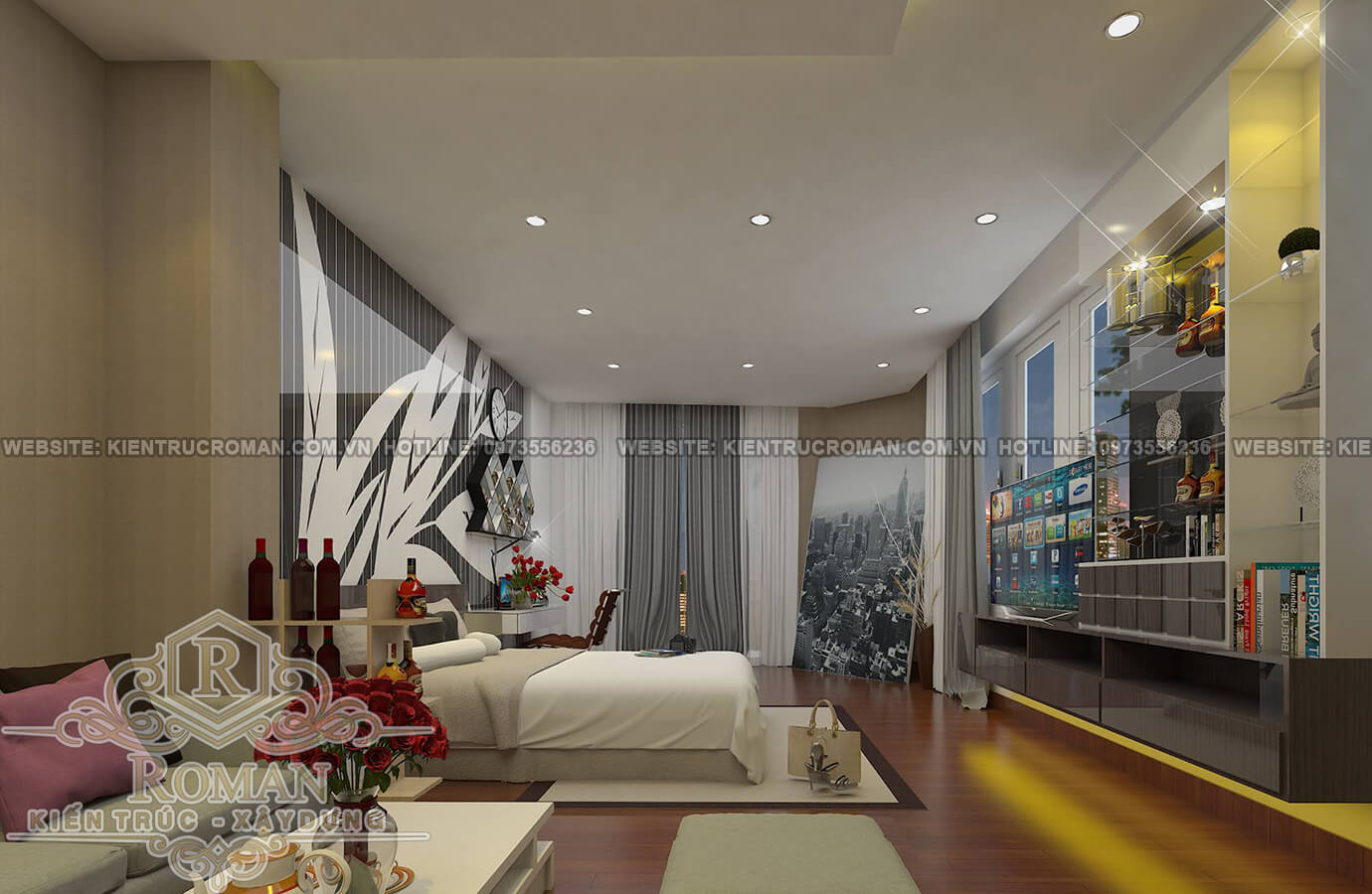 phòng ngủ thiết kế kiến trúc nhà phố