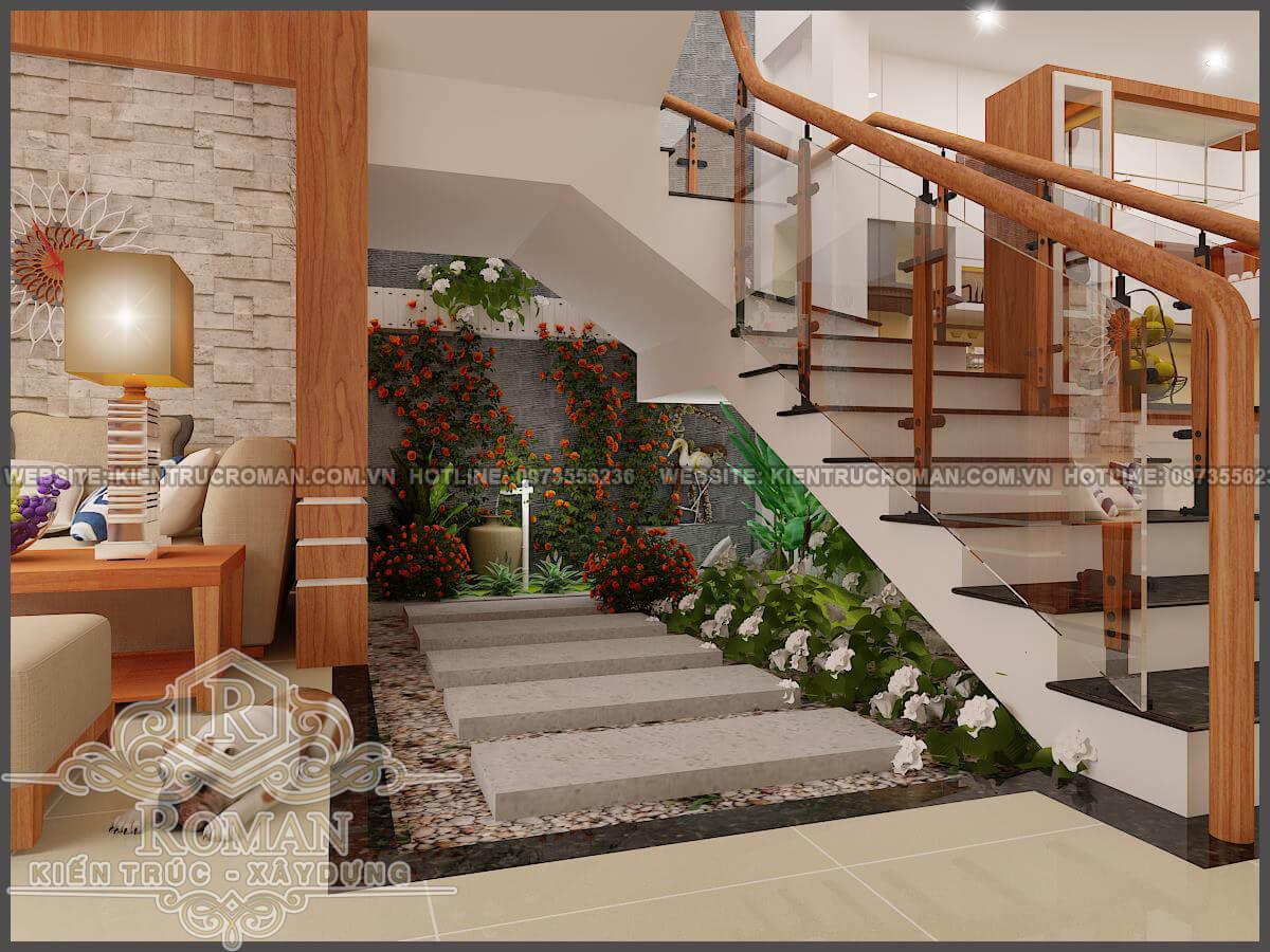 phòng khách thiết kế kiến trúc nhà phố