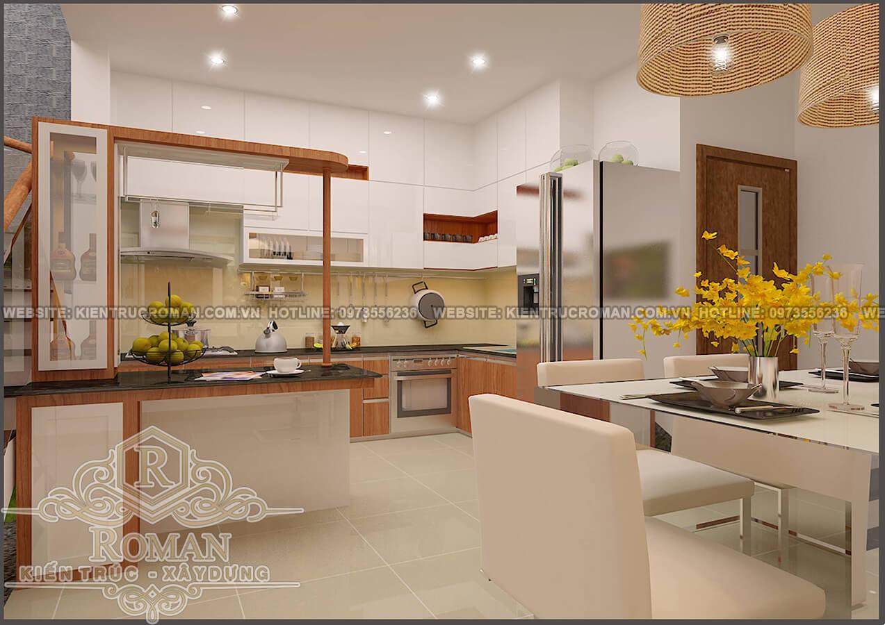 Phòng bếp thiết kế kiến trúc nhà phố