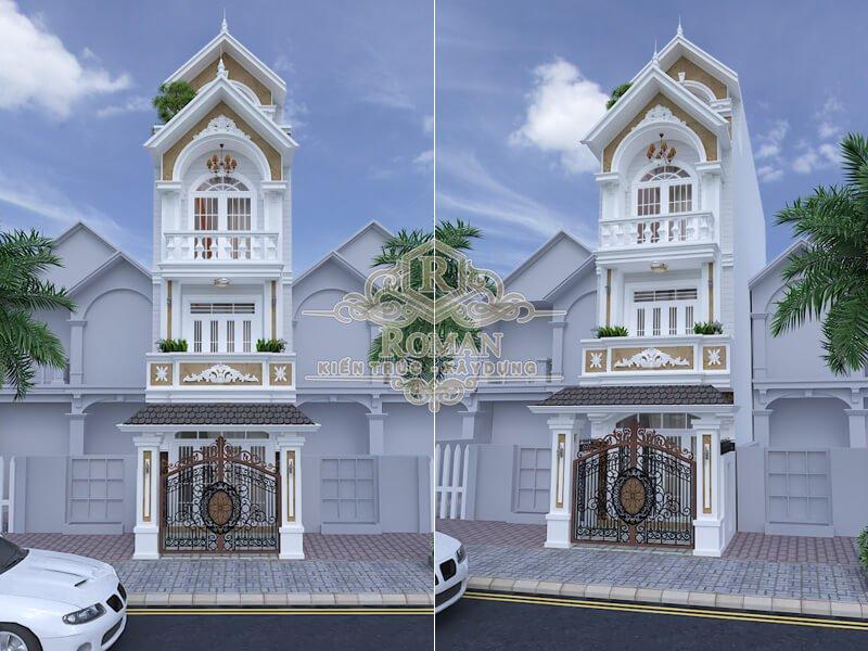 thiết kế kiến trúc nhà phố tân cổ điển đẹp tại đồng nai