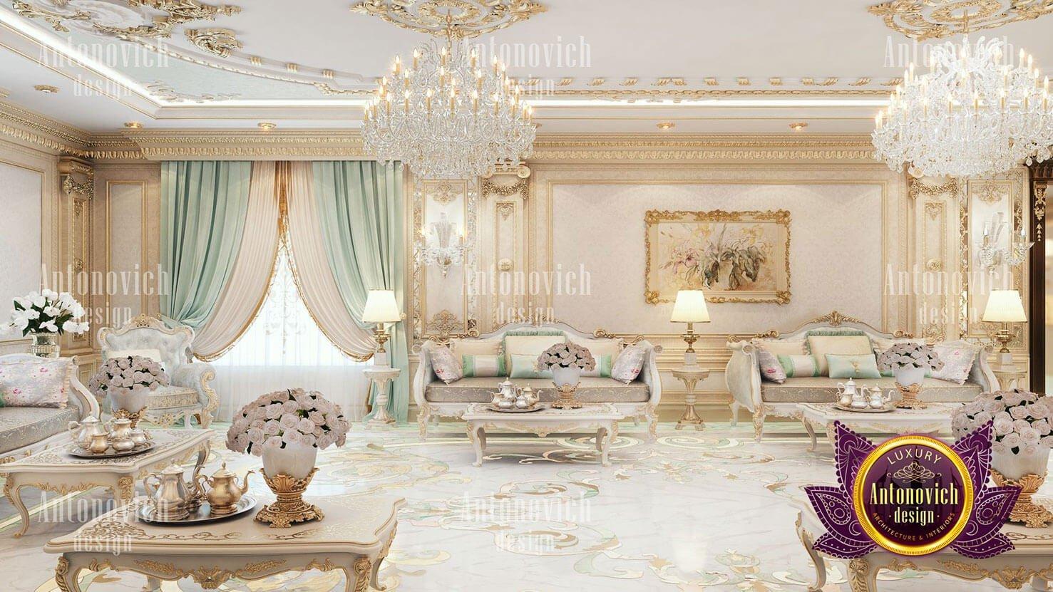 thiết kế lâu đài dinh thự đẹp phòng khách