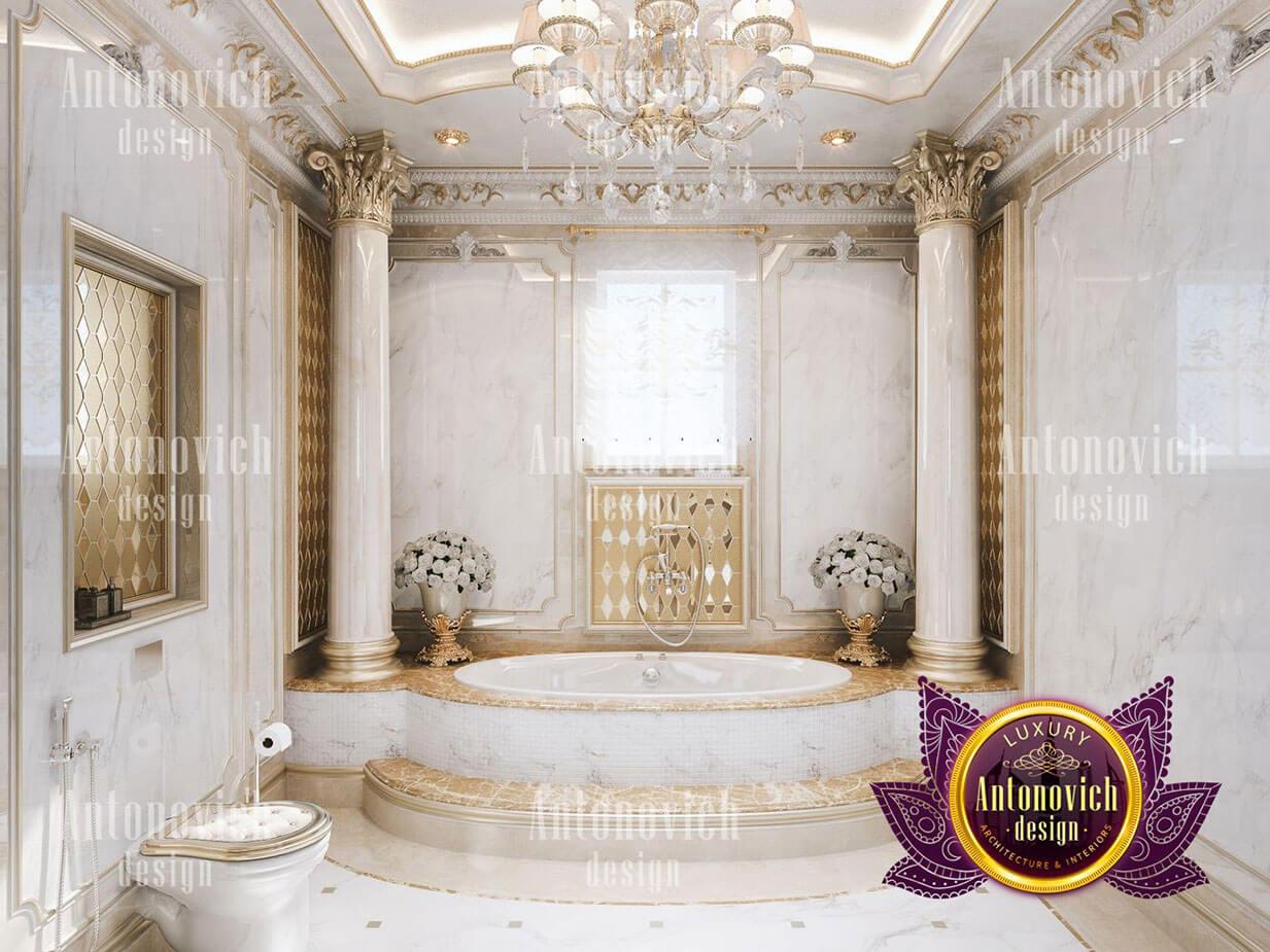 thiết kế lâu đài dinh thự đẹp phòng tắm