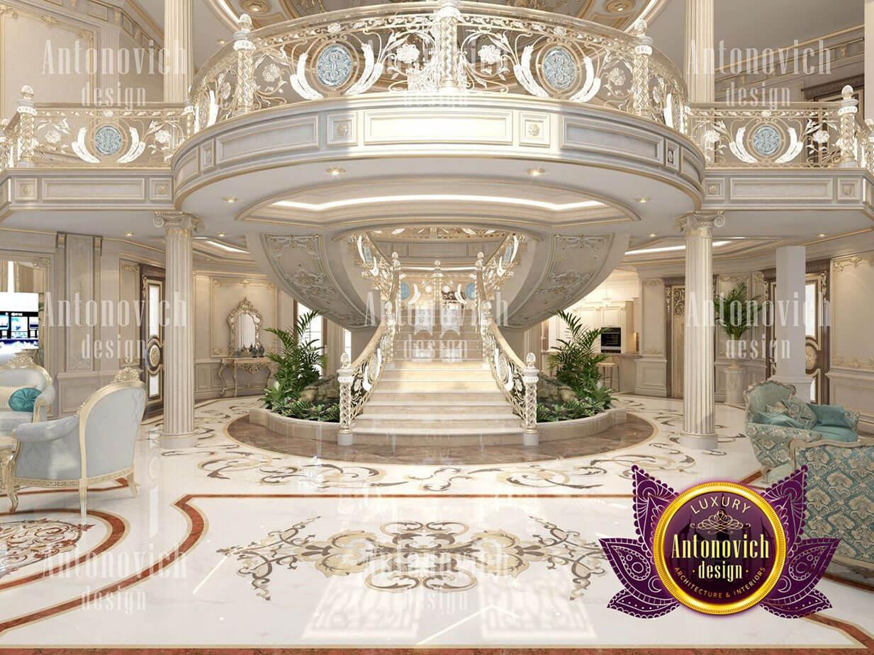 thiết kế lâu đài dinh thự đẹp sảnh chính