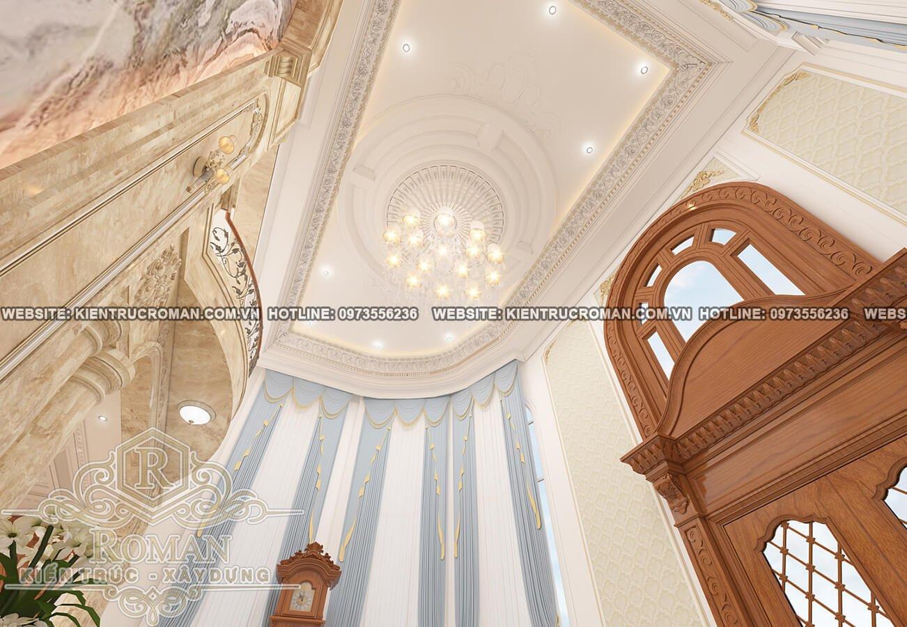 thiết kế mẫu biệt thự 3 tầng kiểu pháp nội thất gỗ