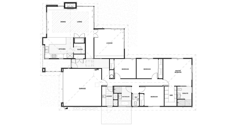 mẫu nhà 1 tầng 4 phòng ngủ đẹp 12