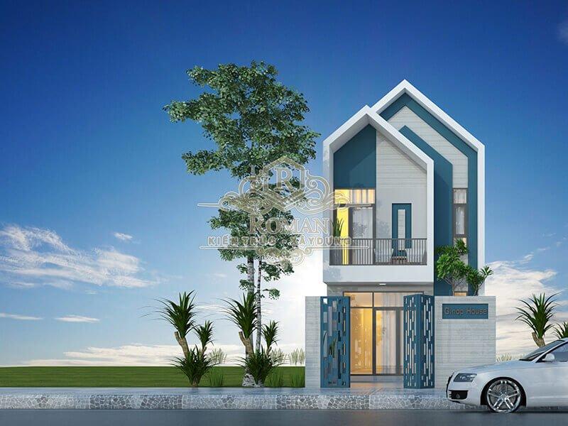 thiết kế nhà 1 trệt 1 lầu 1 2 phòng ngủ