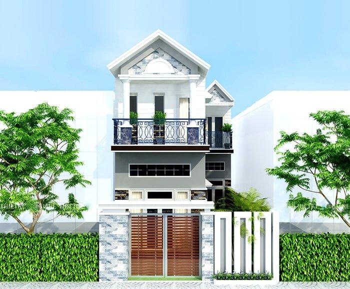 thiết kế nhà 2 tầng có gác lửng 13