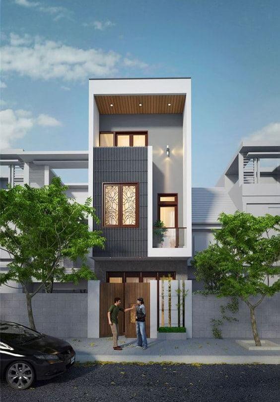thiết kế nhà 40m2 3 tầng 1