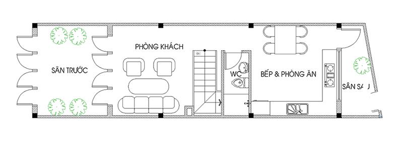 thiết kế nhà 40m2 3 tầng 10