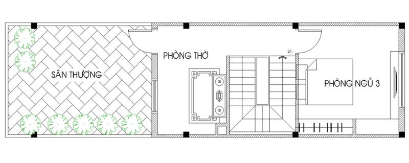 thiết kế nhà 40m2 3 tầng 13