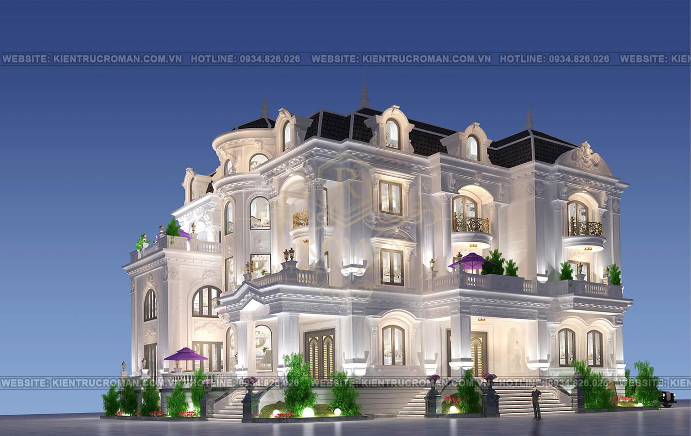 thiết kế nhà biệt thự đẹp phối cảnh