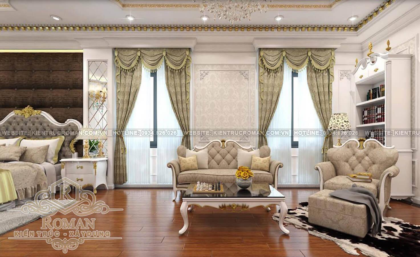 thiết kế nhà biệt thự đẹp phòng ngủ