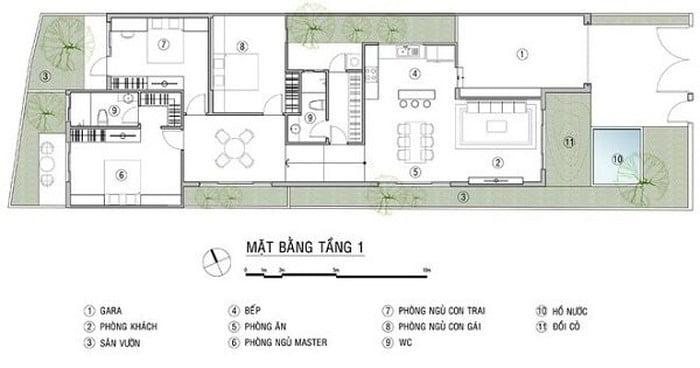 mẫu thiết kế nhà 1 tầng 3 phòng ngủ đẹp 27