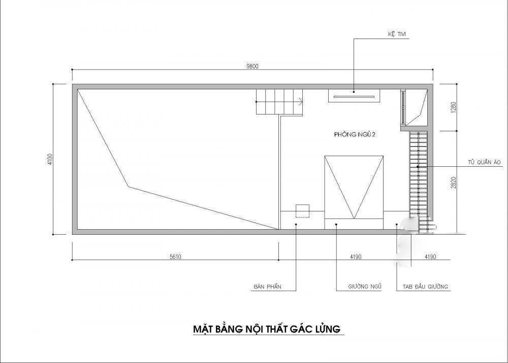thiết kế nhà cấp 4 có gác lửng 40m2