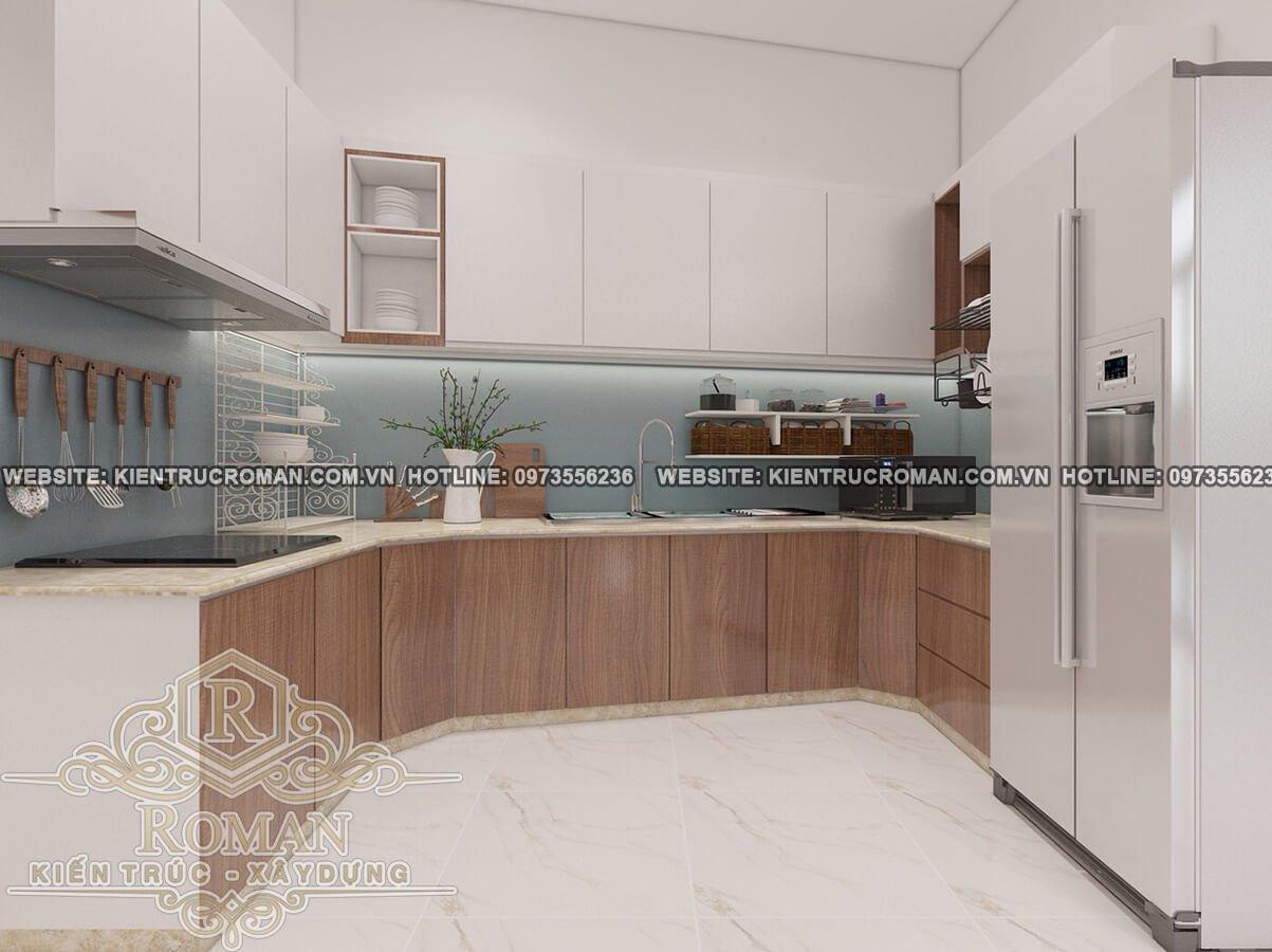 nhà bếp thiết kế nhà chữ L đe