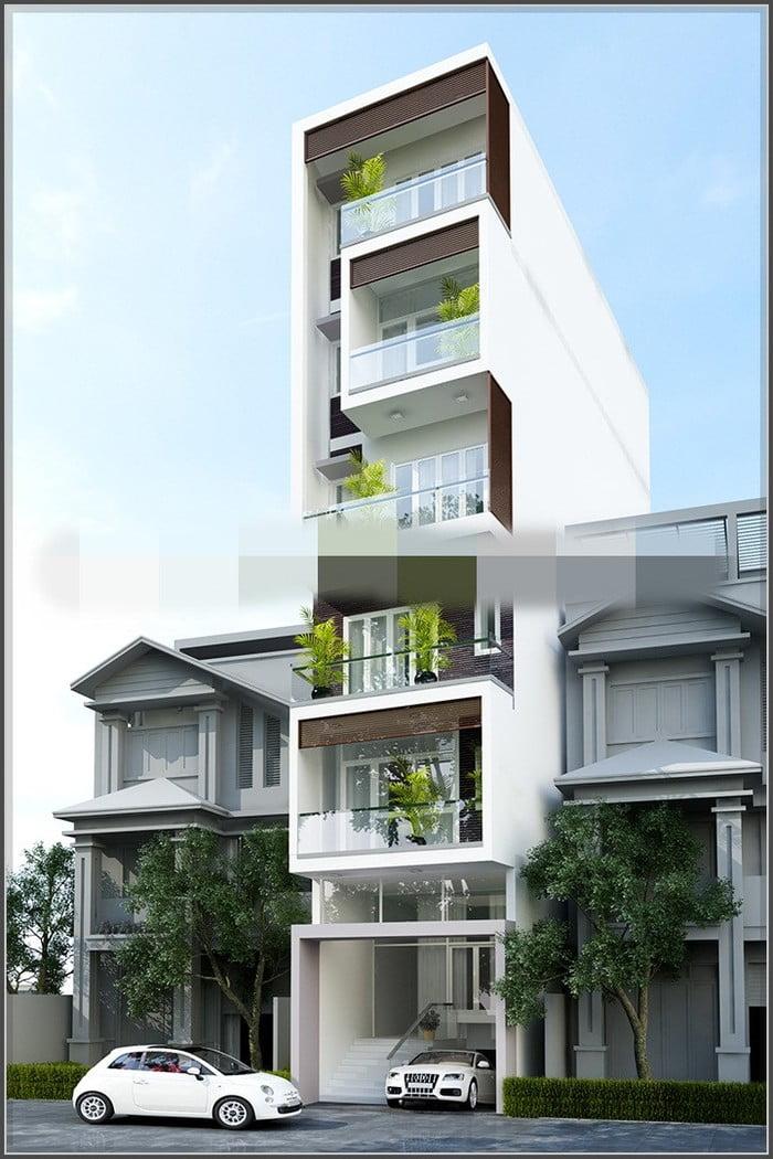 Thiết kế nhà có tầng hầm 5x20 3 tầng đẹp 15