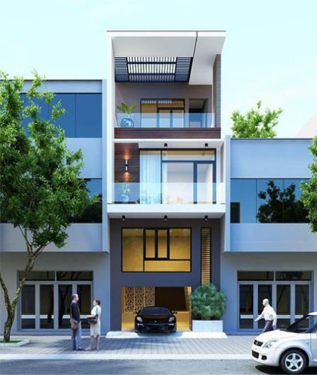 Thiết kế nhà có tầng hầm 5x20 3 tầng đẹp 19