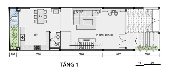 Thiết kế nhà có tầng hầm 5x20 3 tầng đẹp 3