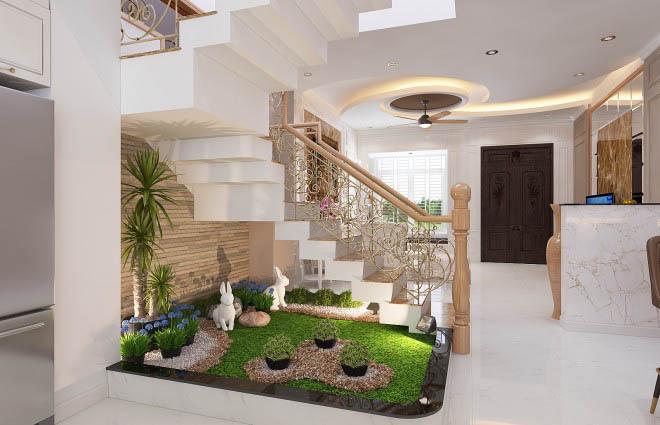 Thiết kế nhà có tầng hầm 5x20 3 tầng đẹp 9