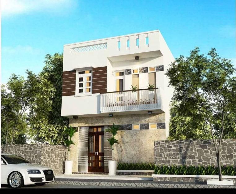 thiết kế nhà đẹp 2 tầng