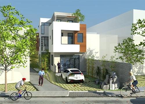 mẫu thiết kế nhà đẹp 5x15 1 trệt 1 lầu đẹp 3