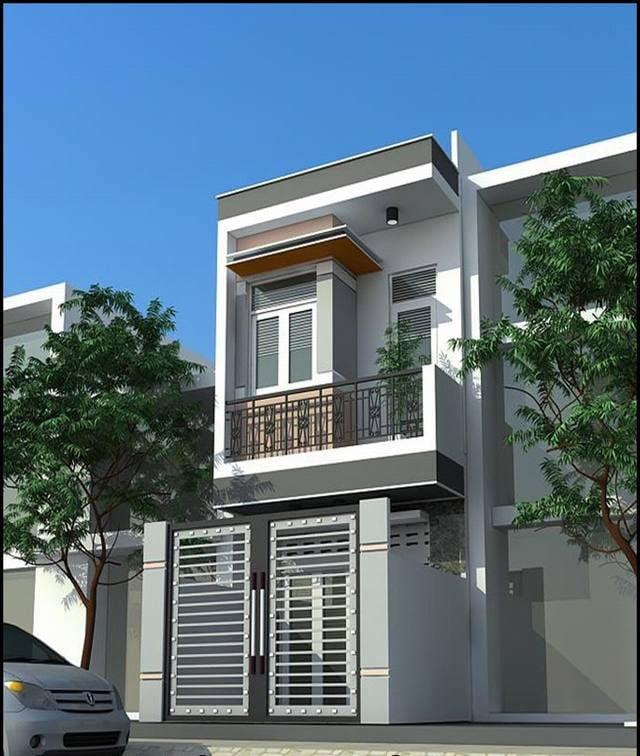 mẫu thiết kế nhà đẹp 5x15 1 trệt 1 lầu đẹp 5
