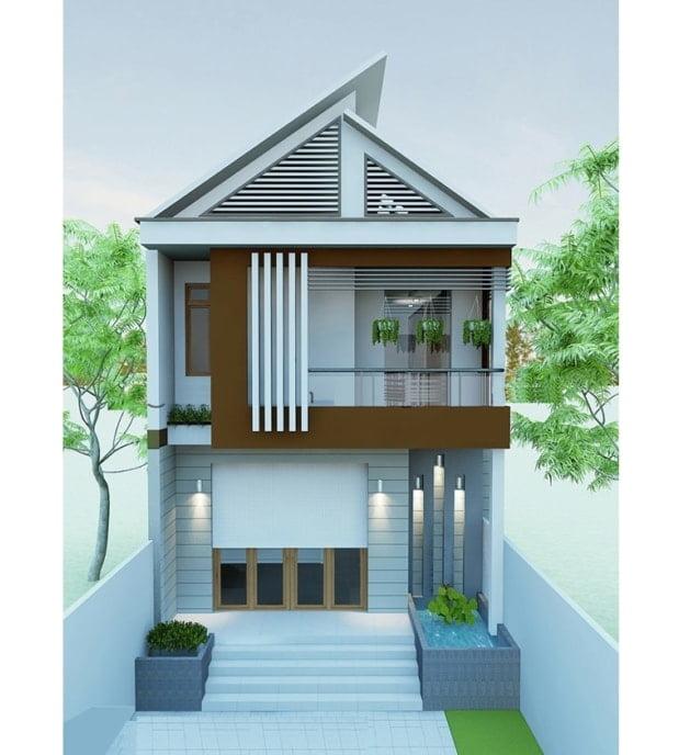 mẫu thiết kế nhà đẹp 5x15 1 trệt 1 lầu đẹp 6