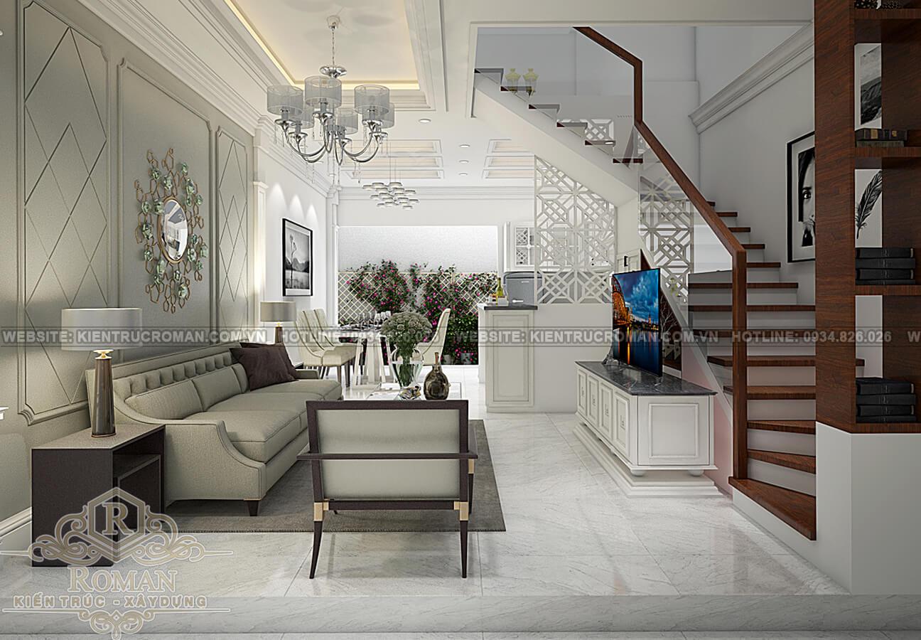 thiết kế nhà đẹp 5x15 phòng khách