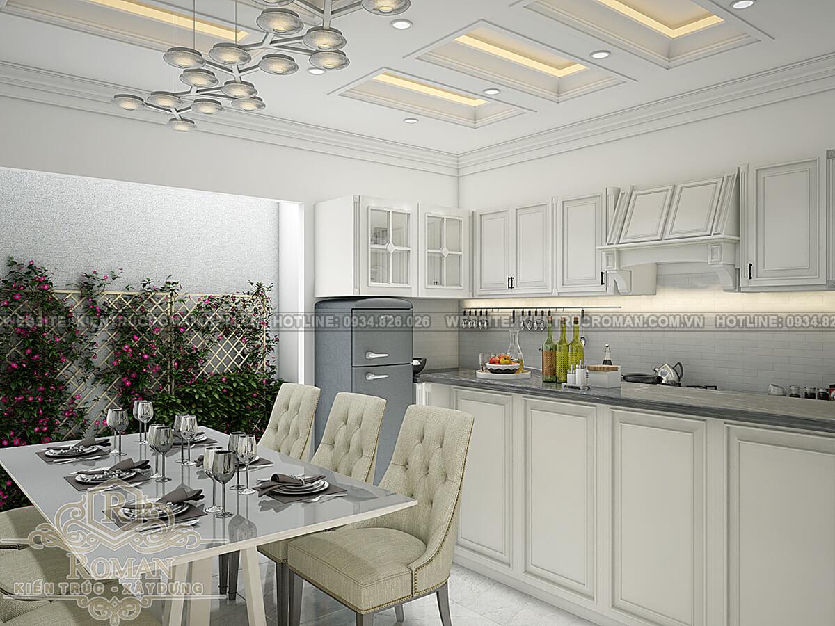 thiết kế nhà đẹp 5x15 phòng bếp