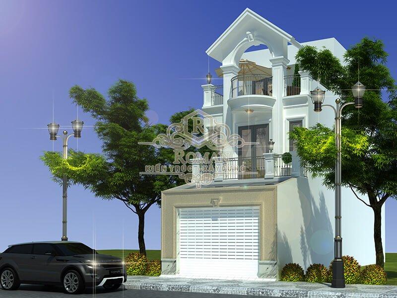 thiết kế nhà đẹp 5x15 phong cách tân cổ điển
