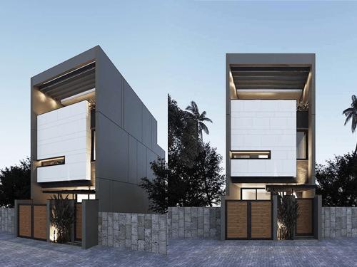 thiết kế nhà lệch tầng 5x15