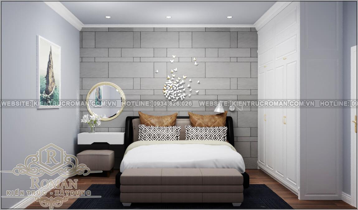 thiết kế nhà liền kề phòng ngủ