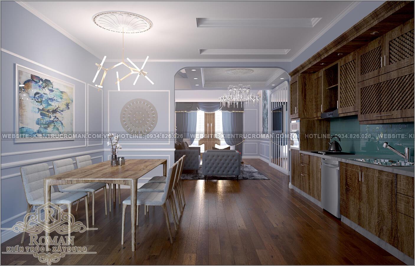 thiết kế nhà liền kề phối cảnh