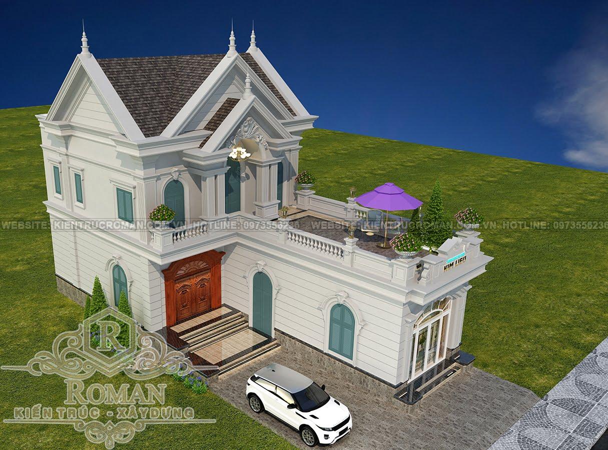 Mẫu thiết kế nhà mái thái 2 tầng đẹp 3