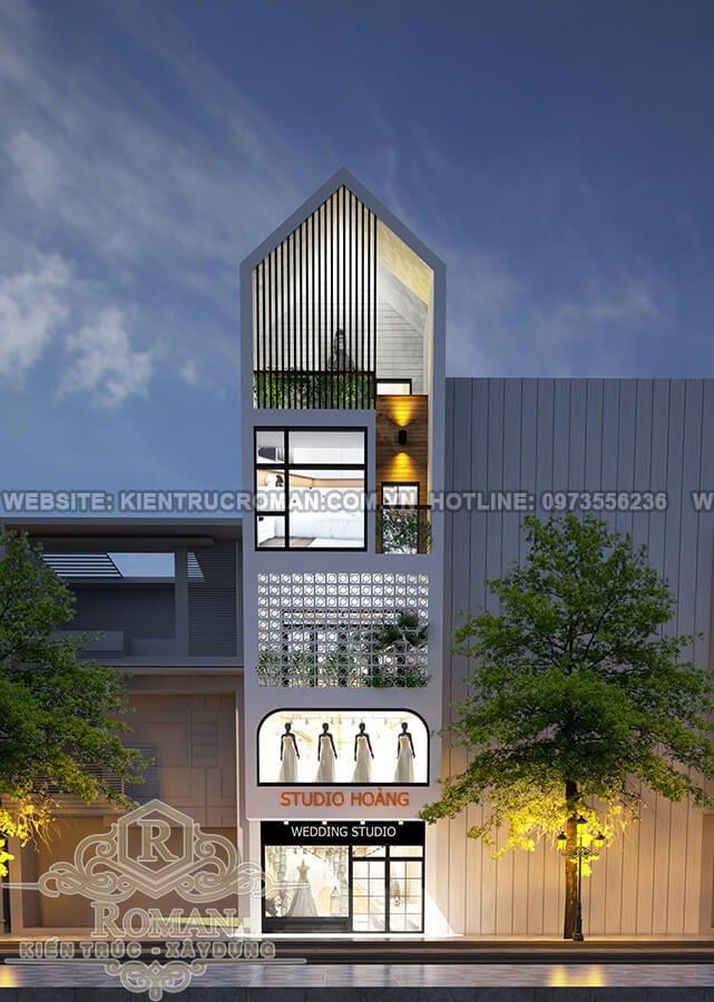 mặt tiền thiết kế nhà mặt phố kinh doanh 3