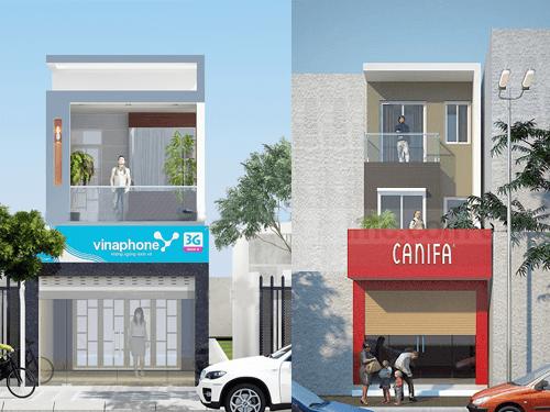 Công trình thiết kế nhà mặt phố kinh doanh đẹp ai cũng muốn xây