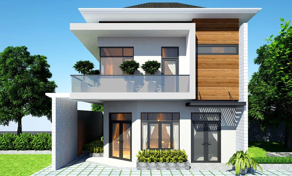 thiết kế nhà mặt tiền 8m sâu 5m