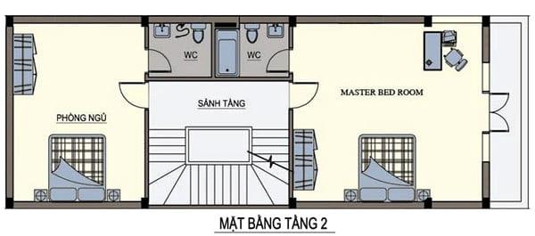 thiết kế nhà ngang 6m dài 15m 3
