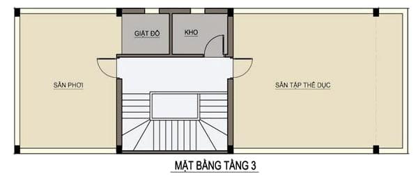 thiết kế nhà ngang 6m dài 15m 4