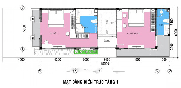 thiết kế nhà ngang 6m dài 20m 12