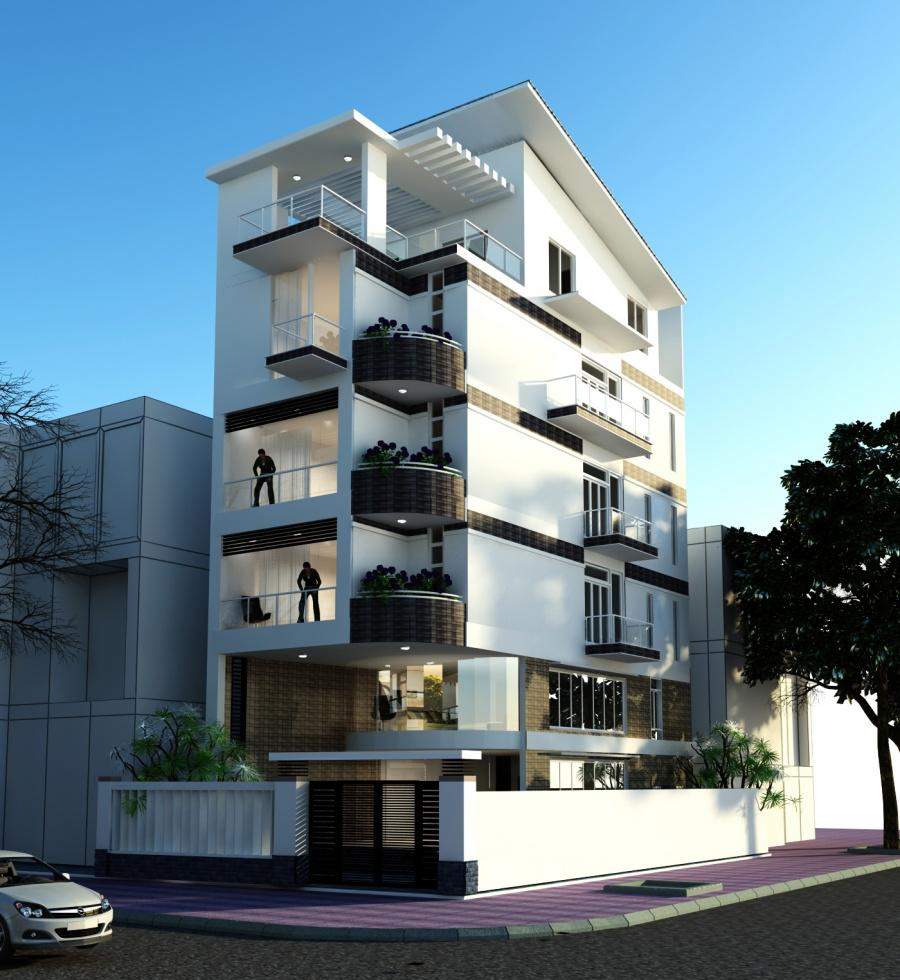 thiết kế nhà ở kết hợp văn phòng cho thuê theo xu hướng mới 2