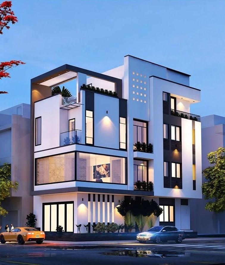 thiết kế nhà ở kết hợp văn phòng cho thuê theo xu hướng mới 1