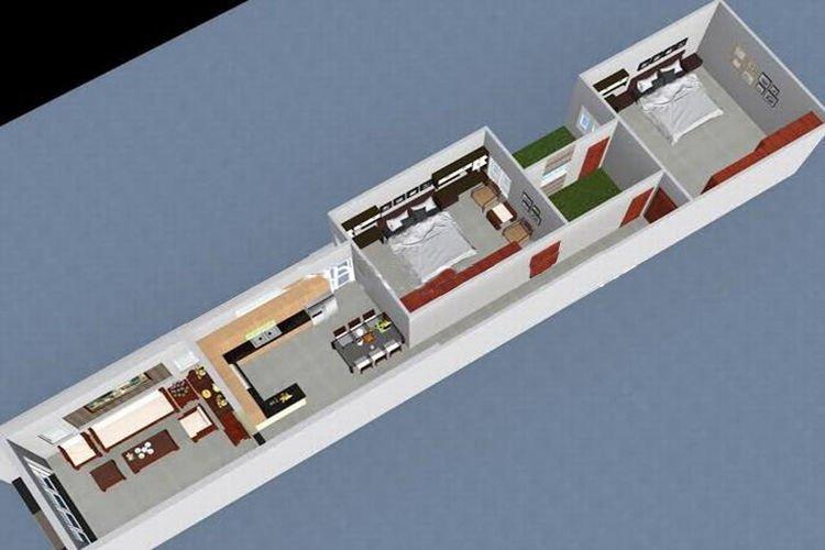 thiết kế nhà ống 1 tầng 3