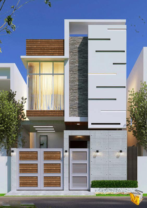 thiết kế nhà ống 2 tầng 4 phòng ngủ 5