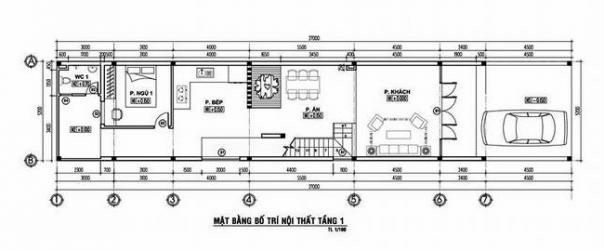 thiết kế nhà ống 2 tầng 4 phòng ngủ 8