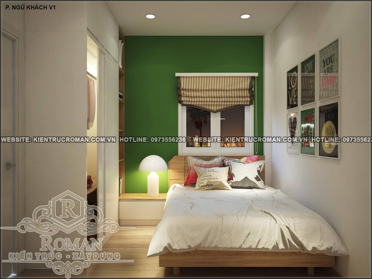 phòng ngủ thiết kế nhà ống 4 tầng